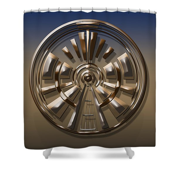 Digital Art Dial 1 Shower Curtain