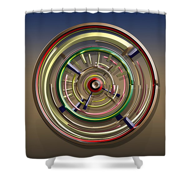Digital Art Dial 4 Shower Curtain