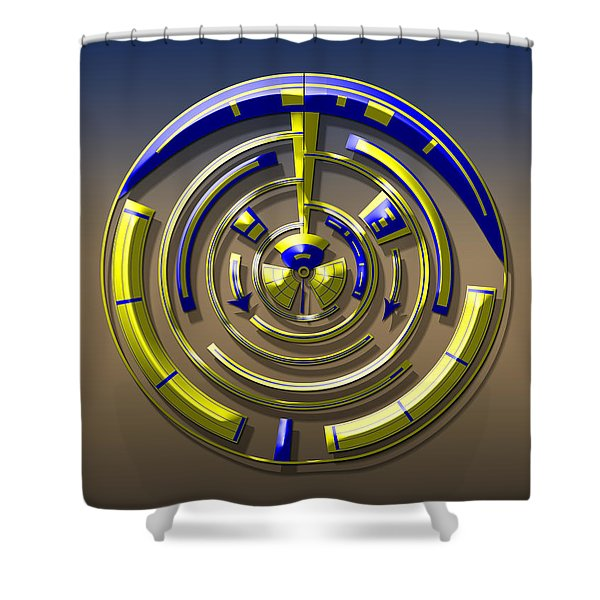 Digital Art Dial 5 Shower Curtain