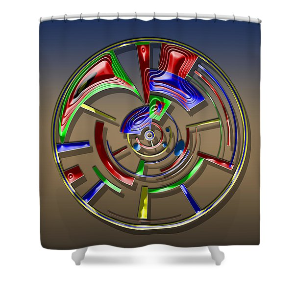 Digital Art Dial 6 Shower Curtain