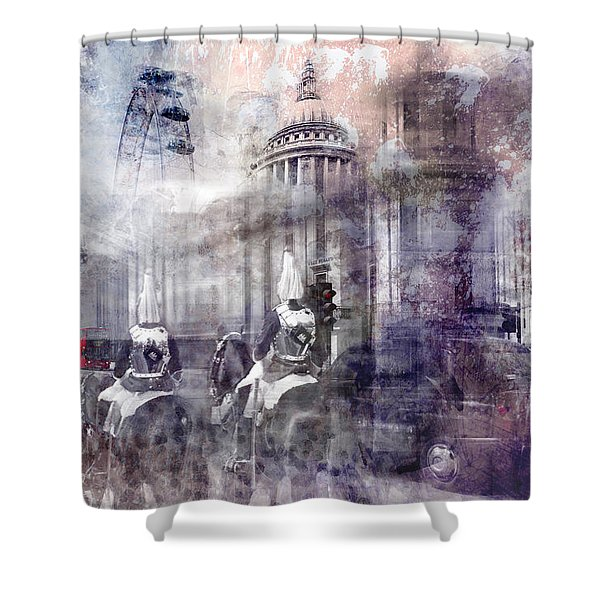 Digital-art London Composing II Shower Curtain