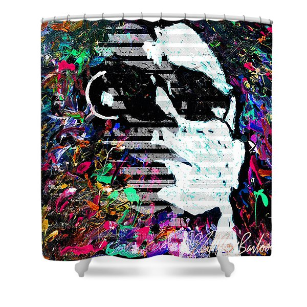 digital Lou Reed Shower Curtain