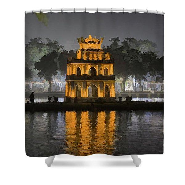 Digital Paint Turtle Tower Hanoi Iv  Shower Curtain
