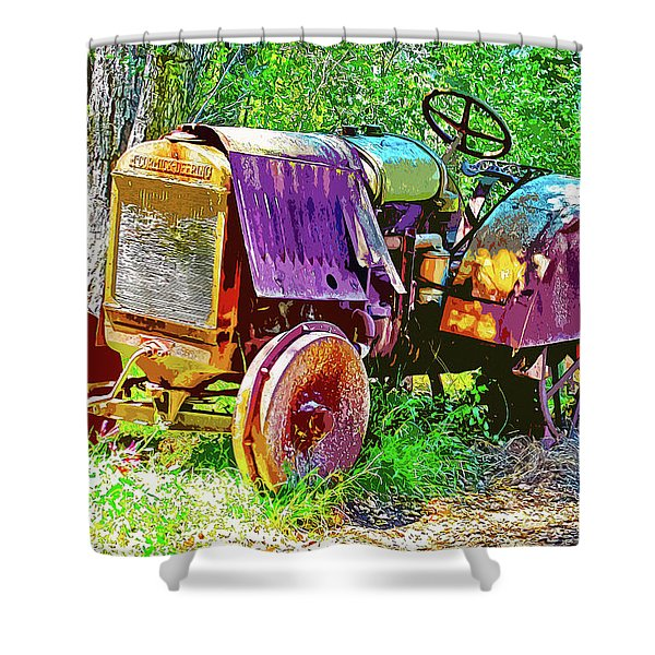 Dilapidated Tractor Shower Curtain
