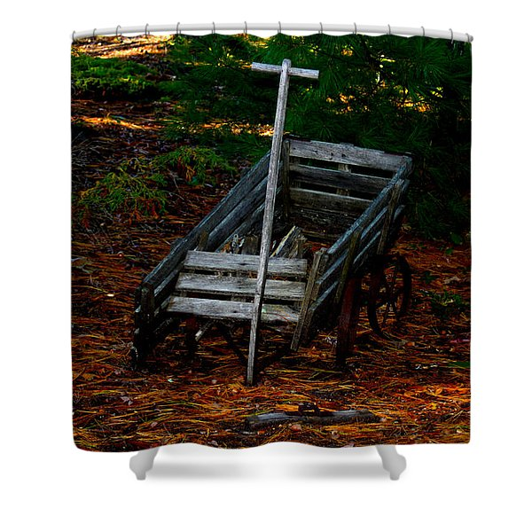 Dilapidated Wagon Shower Curtain