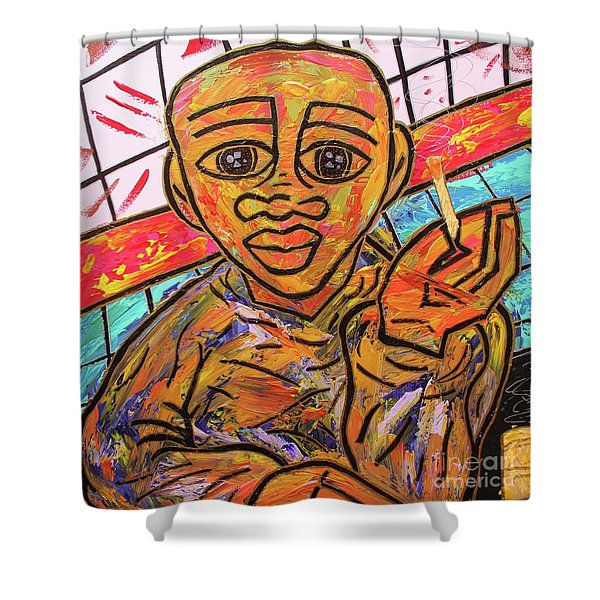 Diners At The Bar Shower Curtain