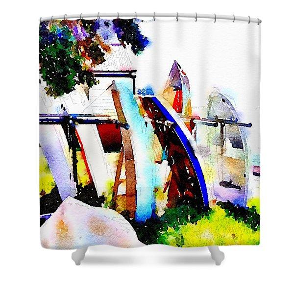 Dinghies At Devonport Shower Curtain