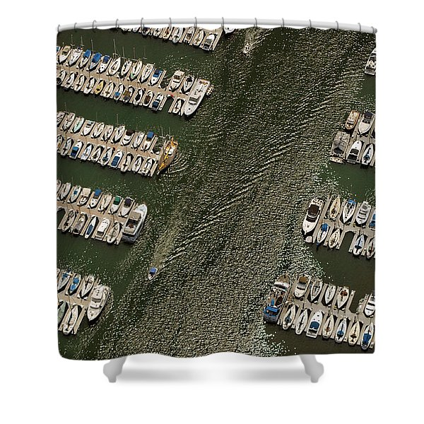 Dingy Ride Shower Curtain