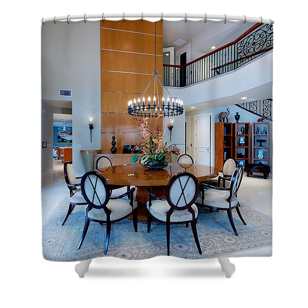 Dining In The Round Shower Curtain
