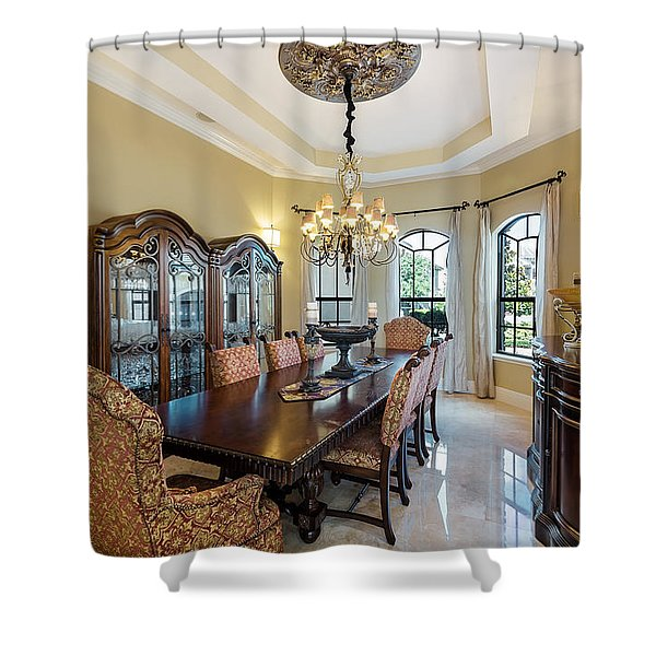 Shower Curtain featuring the photograph Dining by Jody Lane