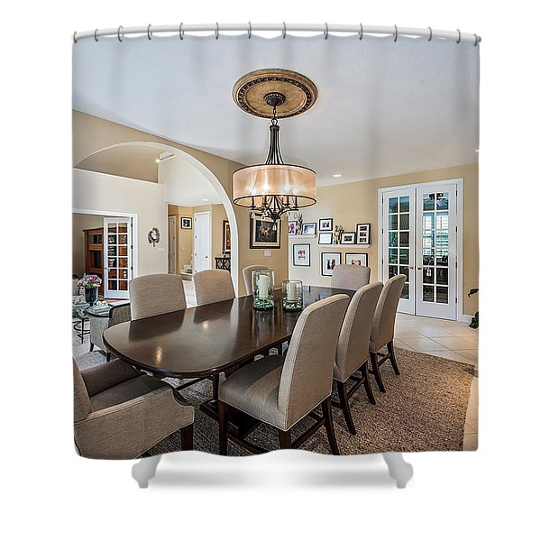 Shower Curtain featuring the photograph Dining Room by Jody Lane