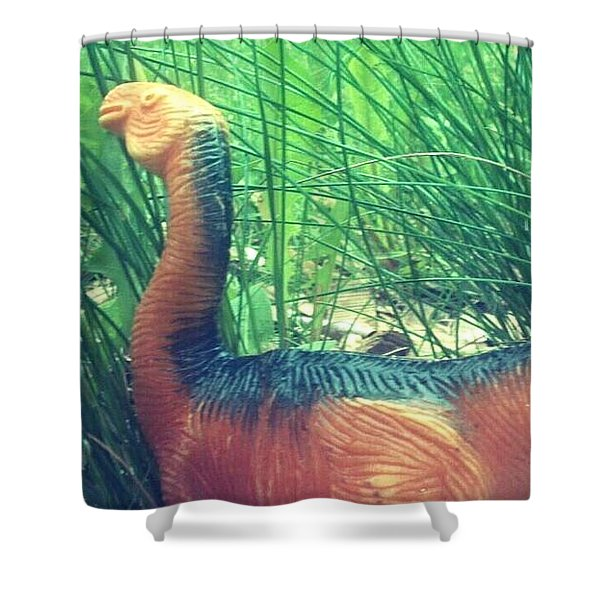 Dino Found Shower Curtain