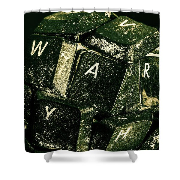 Disarming Of Weaponiised Words  Shower Curtain