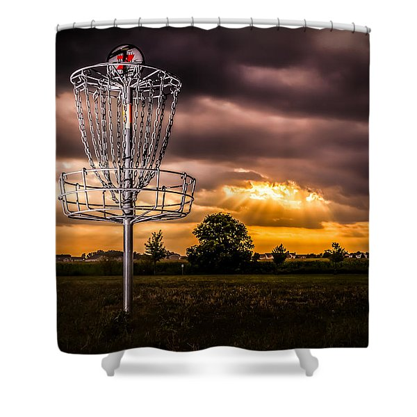 Disc Golf Anyone? Shower Curtain