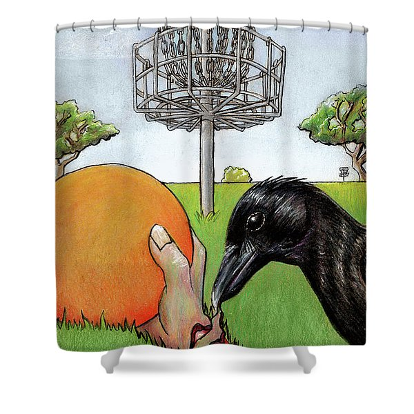 Disc Golf Nightmare Shower Curtain