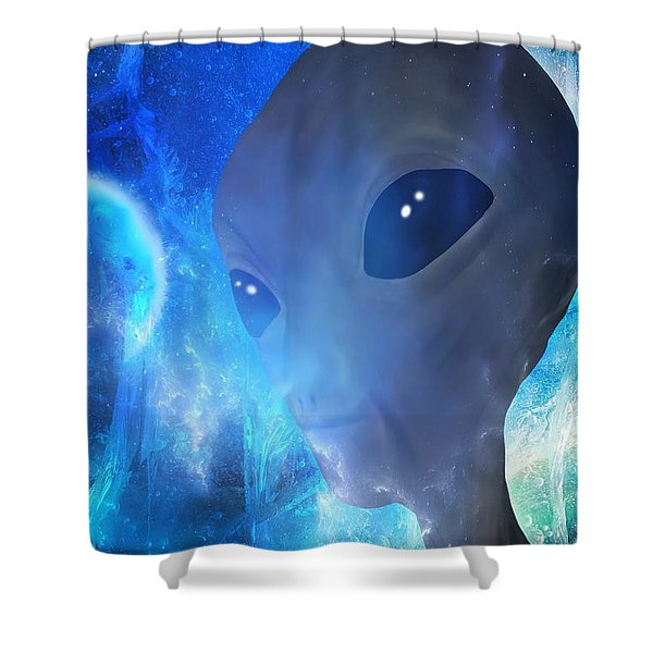 Shower Curtain featuring the painting Disclosure by Mark Taylor