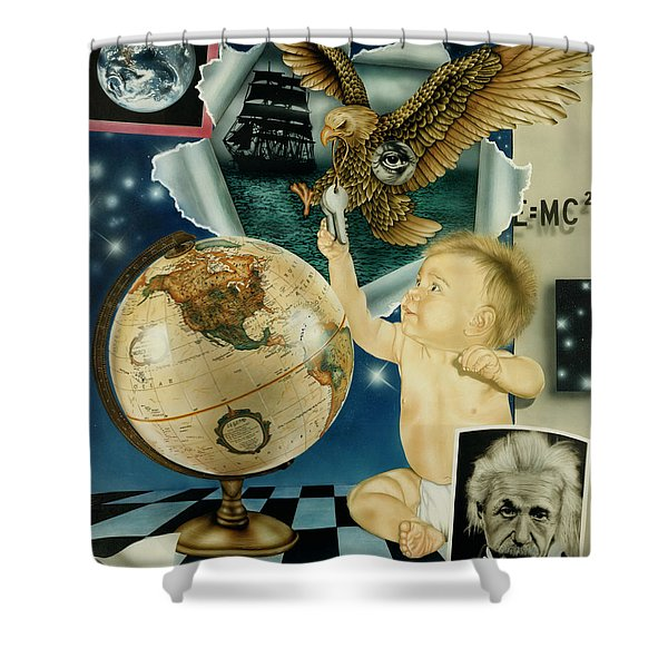 Discovery Of The New World Shower Curtain