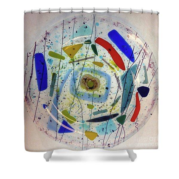 Dish Shower Curtain