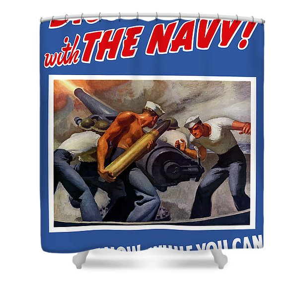 Dish It Out With The Navy Shower Curtain