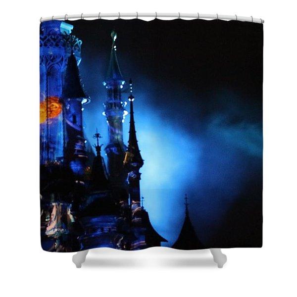 Disney Blues At Night  Shower Curtain
