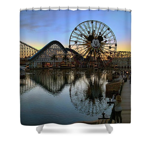 Disney California Adventure Panorama Shower Curtain