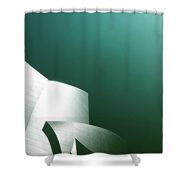 Disney Concert Hall 3- Photograph By Linda Woods Shower Curtain