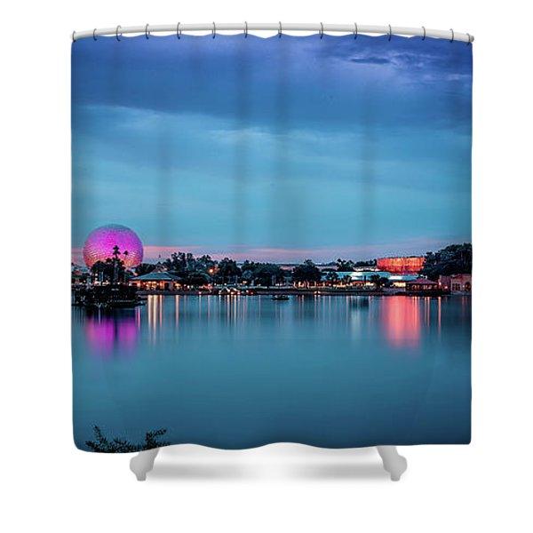 Disney Epcot Shower Curtain