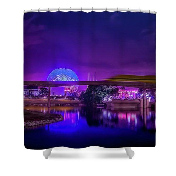 Disney Epcot Monorail Shower Curtain