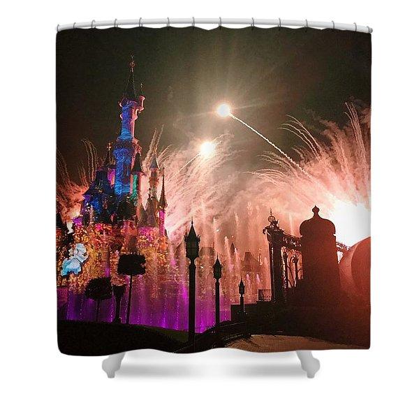 Disney Fireworks Shower Curtain