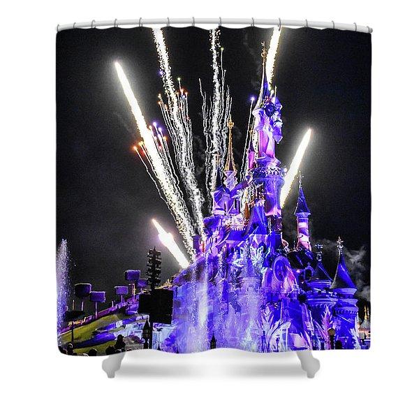 Disney Illuminations Fireworks Shower Curtain