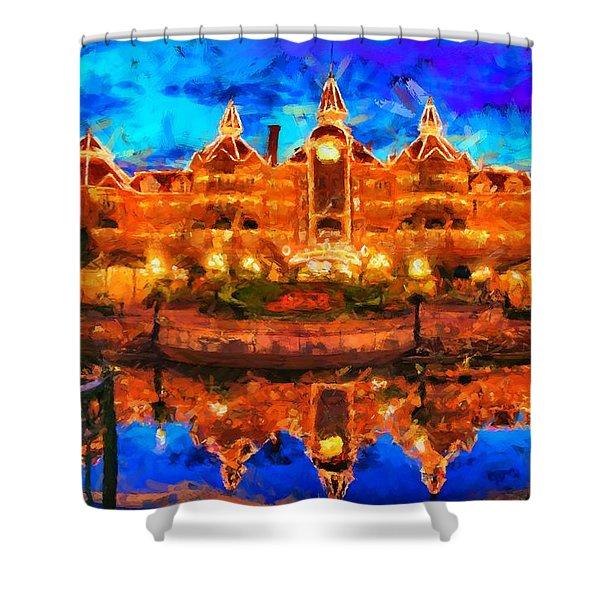 Disneyland Hotel Paris Shower Curtain