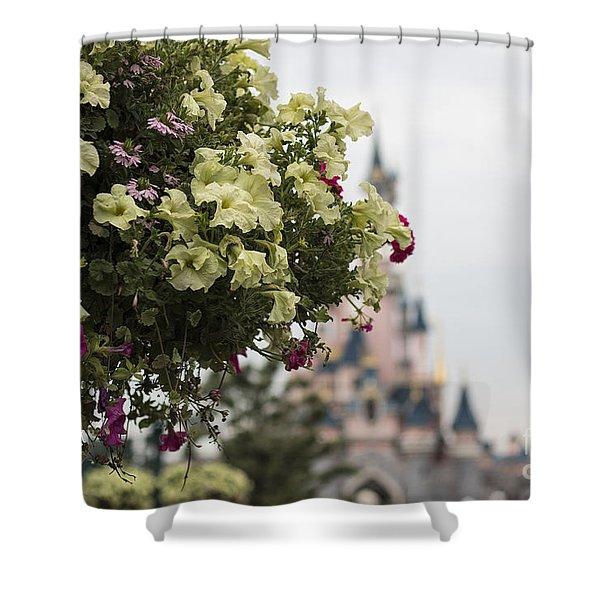 Disneyland Paris Flowers Shower Curtain