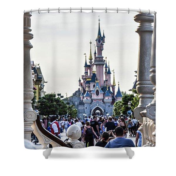 Disneyland Paris Shower Curtain