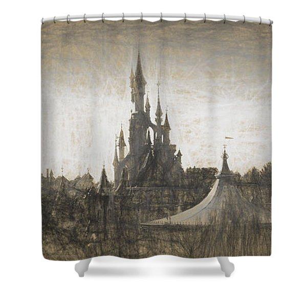 Disneyland Paris Sketch Shower Curtain