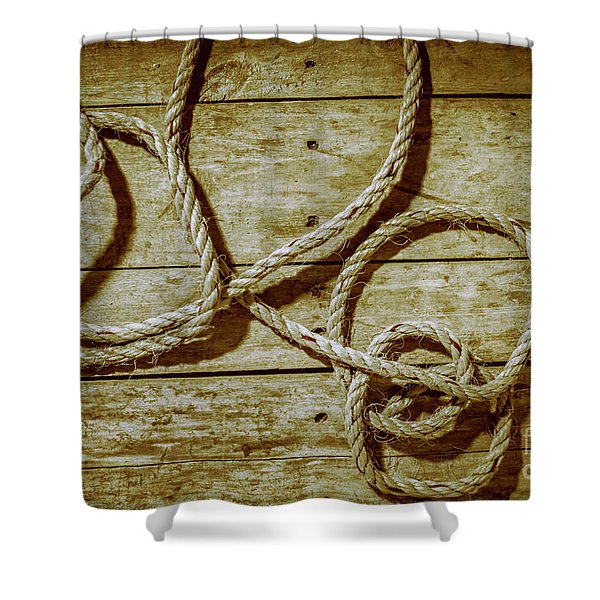 Dispatched Ropes And Voyages Shower Curtain