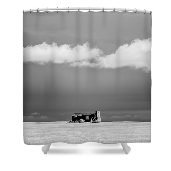 Distant Grain Elevator Shower Curtain