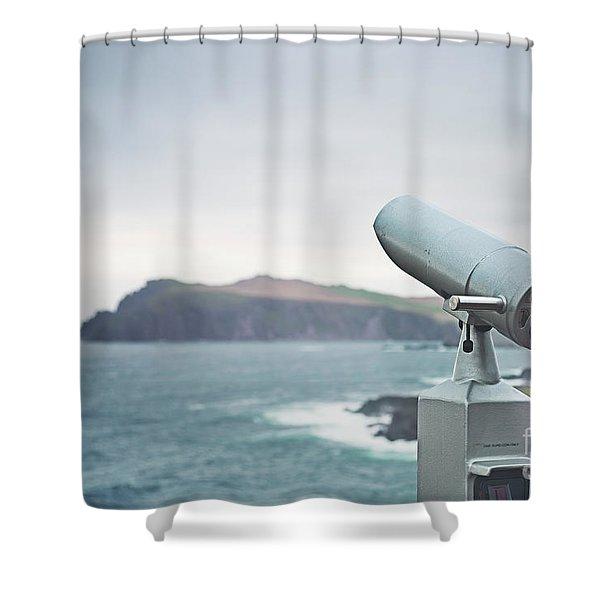 Distant Horizons Shower Curtain