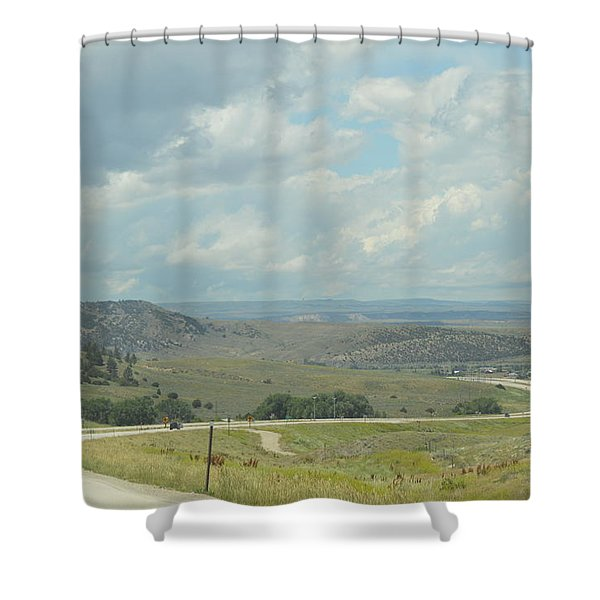 Distant Roads Shower Curtain