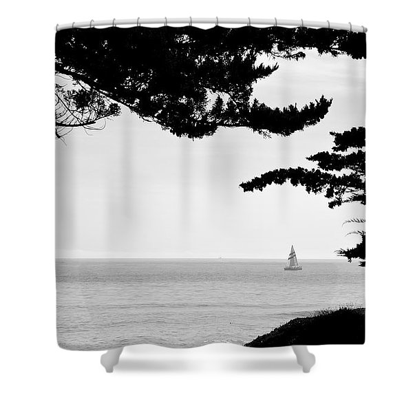 Distant Sails Shower Curtain
