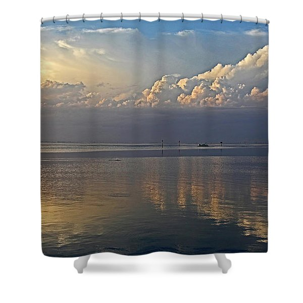 Distant Thunder Shower Curtain