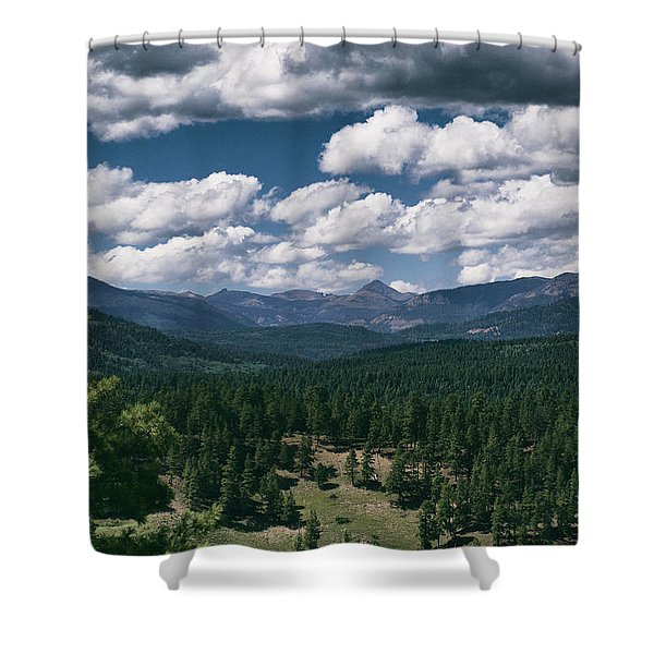 Shower Curtain featuring the photograph Distant Windows by Jason Coward