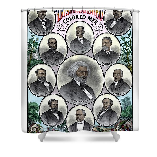Distinguished Colored Men Shower Curtain