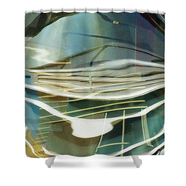 Distorted Reflection Shower Curtain