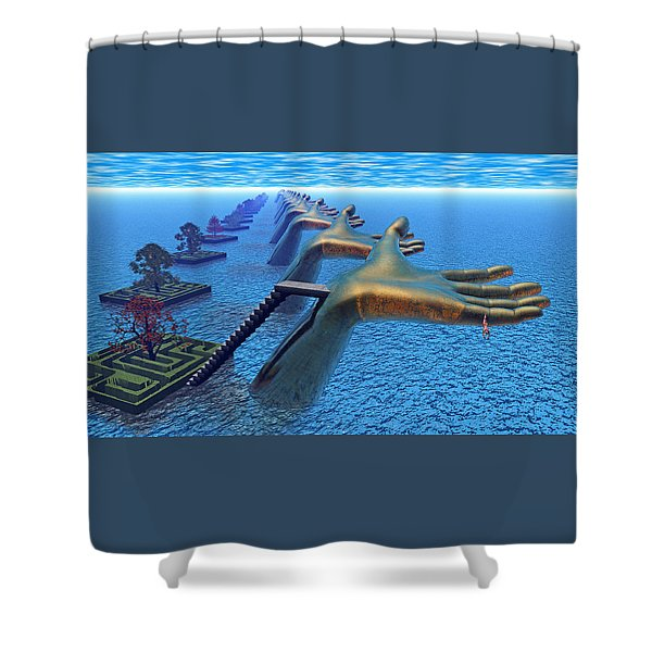 Dive Into The Imagination Shower Curtain