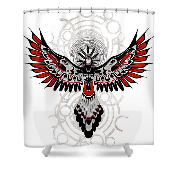 Divine Crow Woman Shower Curtain