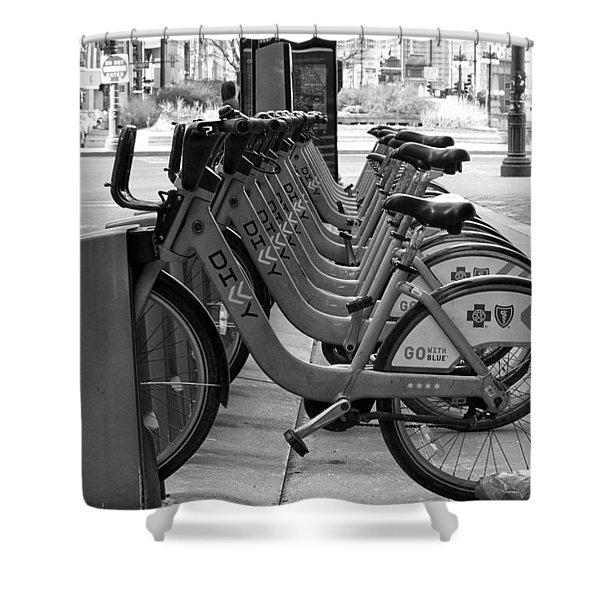 Divvy Bikes Shower Curtain