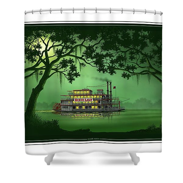 Dixie Lily Shower Curtain