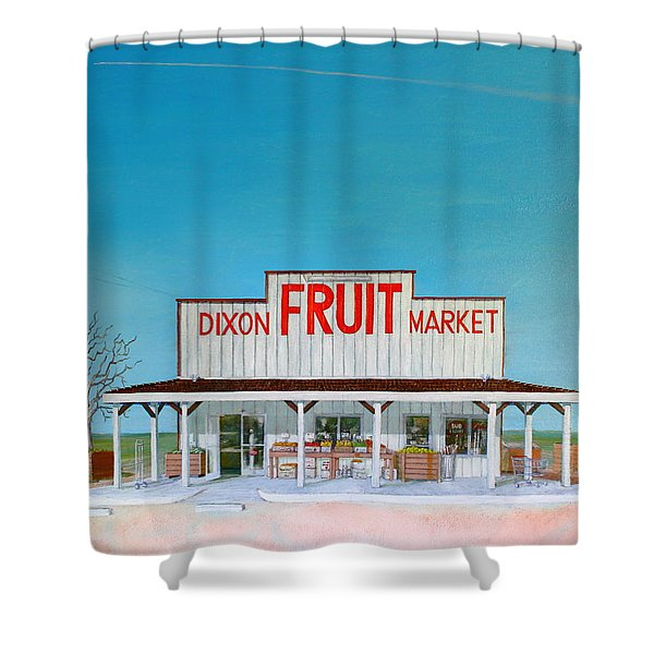 Dixon Fruit Market 1992 Shower Curtain by Wingsdomain Art and Photography