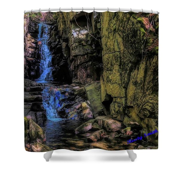 Dixville Notch Flume Brook Shower Curtain