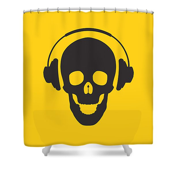 Dj Skeleton Shower Curtain